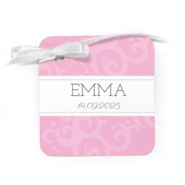 Bedankkaartje Geboortebedankje Classic Baby Roze