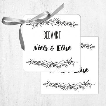 Bedankkaartjes huwelijksbedankjes Mistletoe