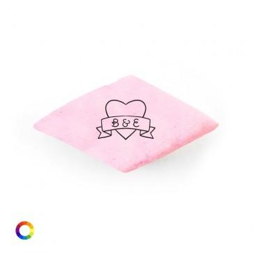Bedrukt snoepgoed spekjes huwelijksbedankjes Heart Banner