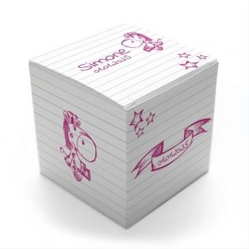 Gepersonaliseerd Snoepdoosje Geboortebedankje - Doodle Meisje