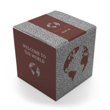 Gepersonaliseerd Snoepdoosje Geboortebedankje - Dotted World