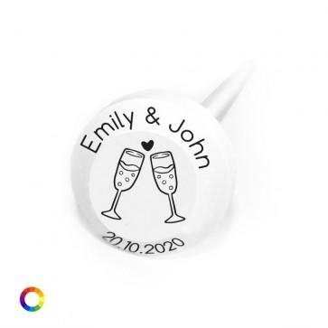 Bedrukte Bolle Lollies Huwelijksbedankjes Champagne