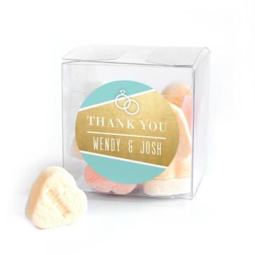 Candy Cube huwelijksbedankje Gold Foil