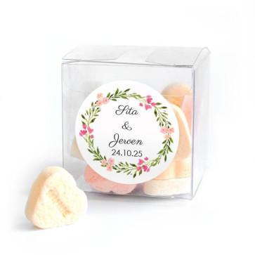 Candy Cube Bruiloft Bedankje Bohemian Flowers
