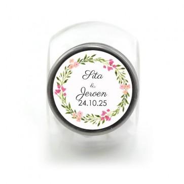 Candy Jar Huwelijksbedankje Bohemian Flowers