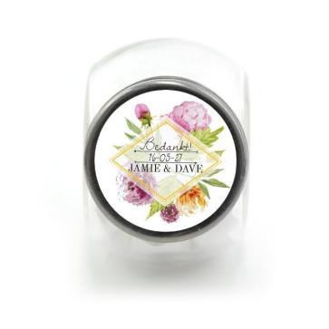 Candy Jar Huwelijksbedankje Floral