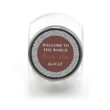 Candy Jar Geboortebedankje Dotted World