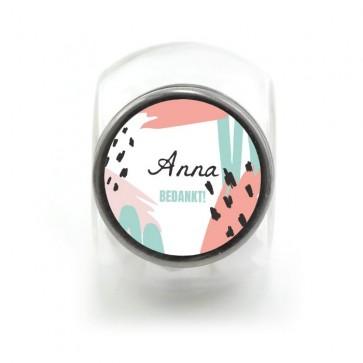 Candy Jar geboortebedankje Memvis