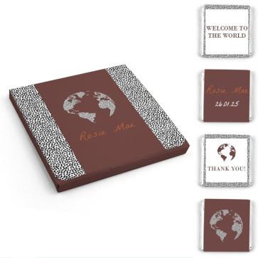 Chocolaatjes in Hoesje Geboortebedankjes Dotted World