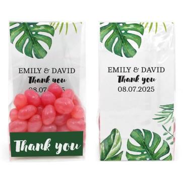 Clear Sweet Bag Huwelijksbedankje Botanical