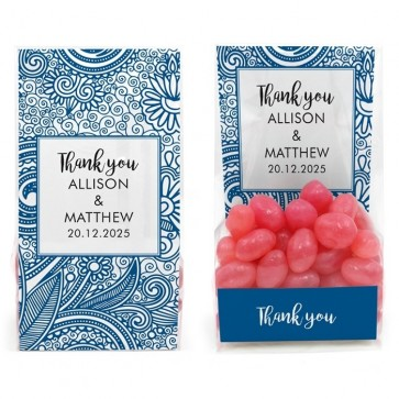 Clear Sweet Bag Huwelijksbedankje Paisley