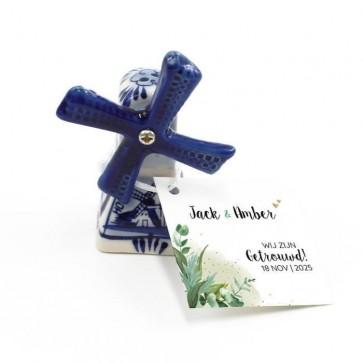 Delfts Blauwe Bedankjes huwelijksbedankjes A Touch Of Gold