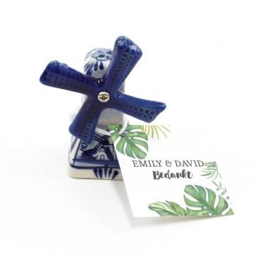 Delfts Blauwe Bedankjes huwelijksbedankjes Botanical