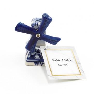 Delfts Blauwe Bedankjes huwelijksbedankjes Marble & Gold