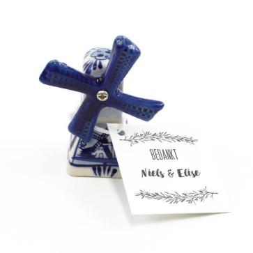Delfts Blauwe Bedankjes huwelijksbedankje Mistletoe