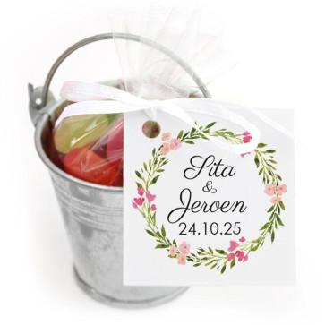 Emmer Snoep Huwelijksbedankje Bohemian Flowers