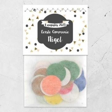 Flowerbags Communie bedankje Gold Triangle