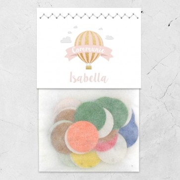 Flowerbags Communie bedankje Pink Balloon