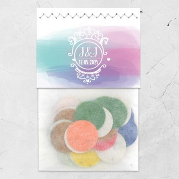 Flowerbags huwelijksbedankjes Colourful Splash