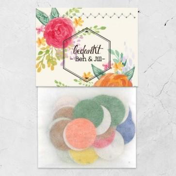 Flowerbags huwelijksbedankjes Peonies Fanfare