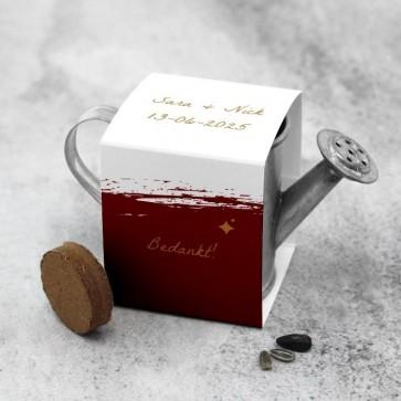 Gieter Groen Huwelijksbedankje Bordeaux Paint