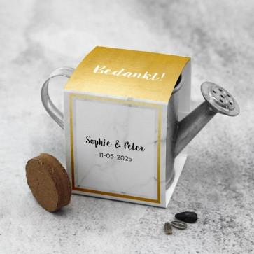 Gieter Groen Huwelijksbedankje Marble & Gold
