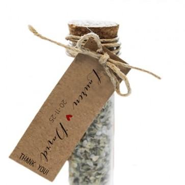 Herbal Gift Tubes huwelijksbedankjes Basis Label