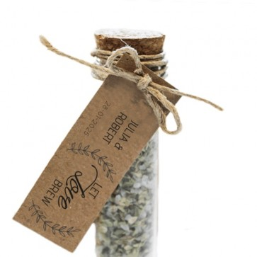 Herbal Gift Tubes huwelijksbedankjes Let Love Brew