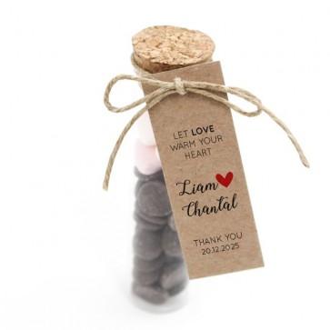 Hot Chocolate Tube Huwelijksbedankje Heart
