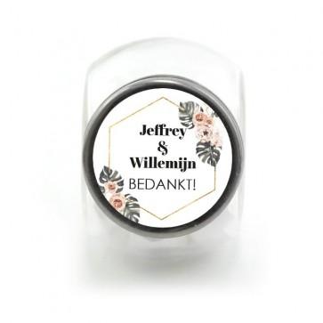 Candy Jar Huwelijksbedankje Botanical Geo