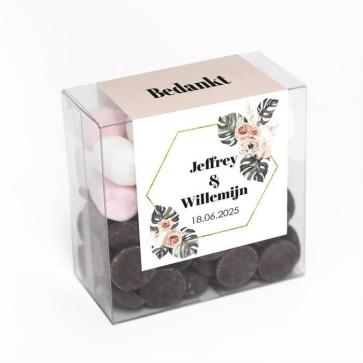 Chocolate Mellow Box Botanical Geo