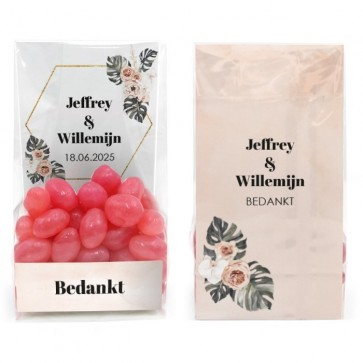 Clear Sweet Bag Huwelijksbedankje Botanical Geo