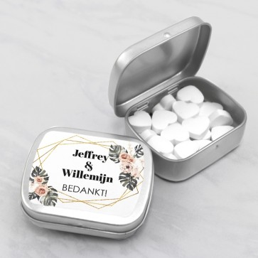 Sweet Tins huwelijksbedankje Botanical Geo