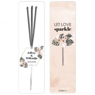 Love Sparklers huwelijksbedankjes Botanical Geo