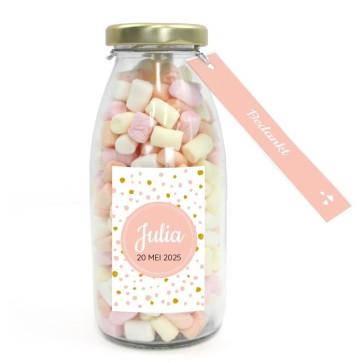 Melkfles Geboortebedankje Pink Perfect