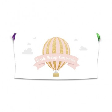 Fruit Mentos Rol Communie bedankje Pink Balloon