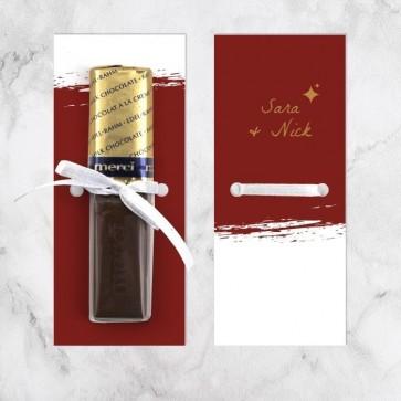 Merci huwelijksbedankje Bordeaux Paint