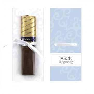 Merci Chocolaatje Geboortebedankje Classic Baby - Blauw