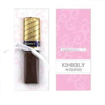 Merci Chocolaatje Geboortebedankje Classic Baby - Roze