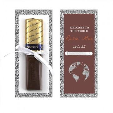 Merci Chocolaatje Geboortebedankje Dotted World