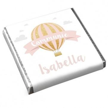 Mini Chocolaatje Communie bedankje Pink Balloon