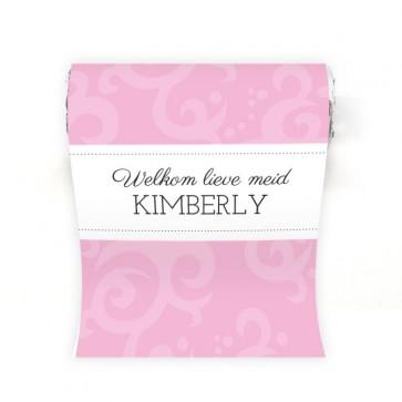 Mini Mentos geboortebedankje Classic Baby Roze