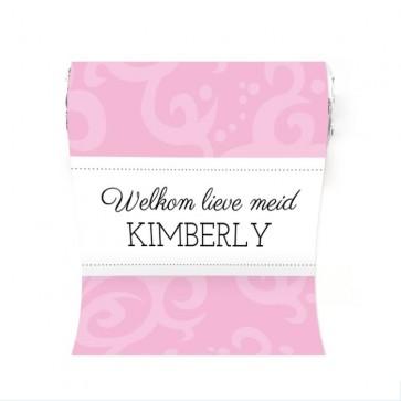 Mini Mint to Be Geboortebedankje Classic Baby Roze