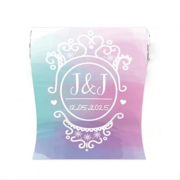 Mini Mint to Be huwelijksbedankje colourful splash