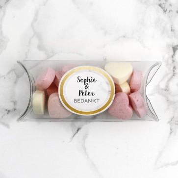 Mini Pillow Box Bedankje Trouw Marble & Gold