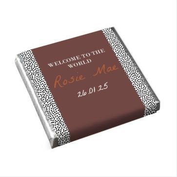 Mini Chocolaatjes Geboortebedankje Dotted World