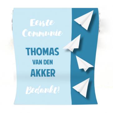 Mini  Mentos Communie  bedankje Paper Planes