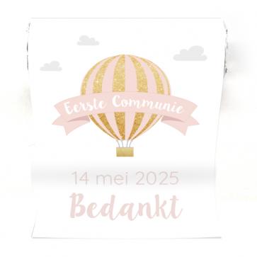 Mini Mentos Communie bedankje Pink Balloon