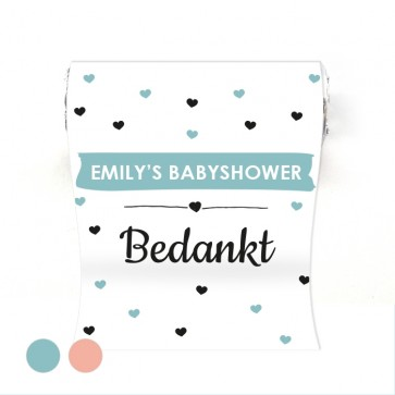Mini Mint to Be geboortebedankje Heart Dots Blauw