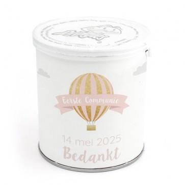 Mini Pringles Communie Bedankje Pink Balloon